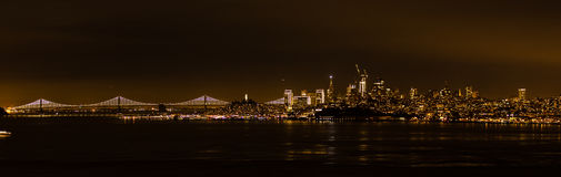 夜旧金山 免版税库存图片