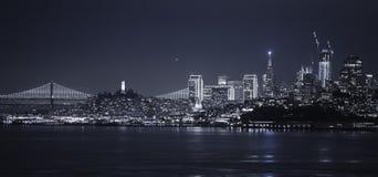 夜旧金山 库存照片