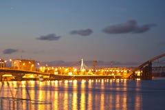 夜桥梁 图库摄影