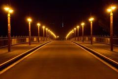 夜桥梁 库存图片