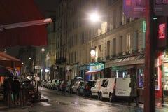 夜欧洲人街道 免版税库存图片