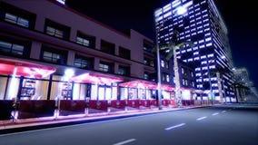 夜氖街道美好的场面  Loopable 影视素材