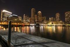 夜波士顿 免版税库存照片
