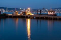 夜海景在王子岛 库存图片