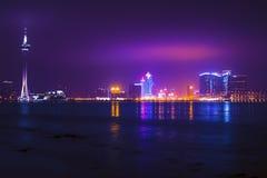 夜澳门。 免版税图库摄影