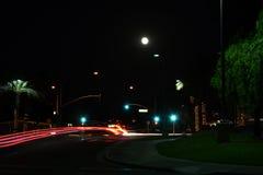 夜灯光管制线 图库摄影