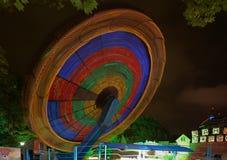 夜照明在公园里维埃拉,索契市 免版税库存照片
