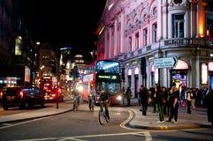 夜生活在伦敦 免版税库存照片