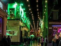 夜生活在利物浦 库存照片