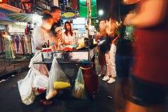 夜生活在曼谷 免版税库存照片