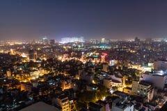 夜生活在河内 免版税库存照片