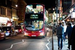 夜生活在苏豪区,伦敦 免版税库存照片