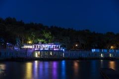 夜生活在赫瓦尔岛 库存照片