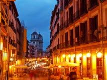 夜生活在马德里,西班牙 库存图片