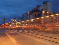 夜生活市罗兹 图库摄影