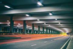夜的高速公路 库存图片