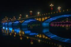 夜的魔术河沿 库存图片