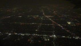 夜空中城市的光 股票视频
