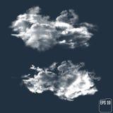 以夜空为背景的现实云彩 向量 向量例证