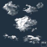 以夜空为背景的现实云彩 向量 皇族释放例证