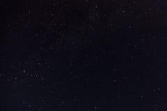 夜空和银河 免版税库存照片