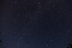 夜空和银河 图库摄影