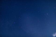夜空和银河 库存图片