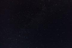 夜空和银河 免版税库存图片
