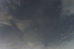 黑夜空大量与大熊星座的星 库存图片