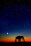 夜空无线电望远镜 免版税库存照片
