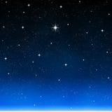 夜空星形满天星斗想 库存照片