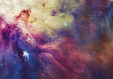 夜空有云彩星星云背景 美国航空航天局装备的图象的元素 库存图片