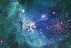 夜空有云彩星星云背景 美国航空航天局装备的图象的元素 皇族释放例证
