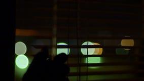 夜窗口关闭看法 影视素材