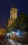 夜老镇中心,布拉格 免版税库存图片