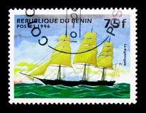 夜莺(装备完整的船),帆船serie,大约1996年 库存照片