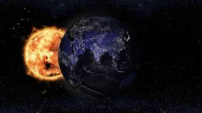 夜行星地球视图的,这图象furnishe的元素亚洲 库存例证