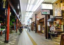 夜街道在东京,日本 库存照片