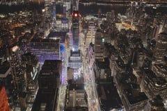 夜街道在纽约 免版税库存照片