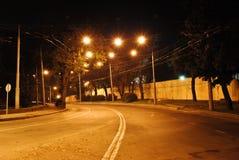 夜街道 免版税库存照片