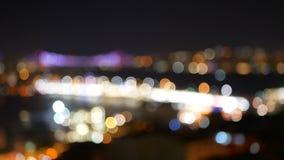 夜被弄脏的城市河 股票视频