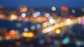 夜被弄脏的城市河 股票录像