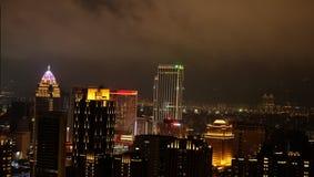 夜视图在台北,台湾 免版税库存图片