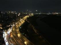 夜视图在台北 库存照片