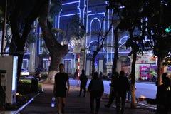 夜视图, Hoan金湖,中心河内 免版税库存图片