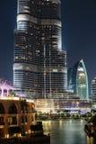 夜视图Bur迪拜 库存图片