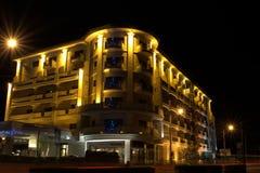 夜视图iluminated修造的1 库存照片