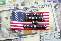夜辩论在美国 库存图片