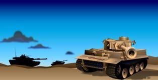 夜间例证坦克 免版税库存图片