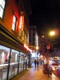 夜间在华盛顿特区的唐人街 免版税图库摄影